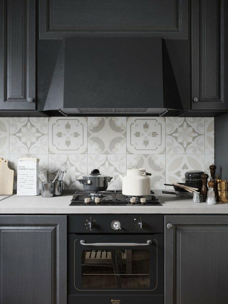 Черная красивая кухня