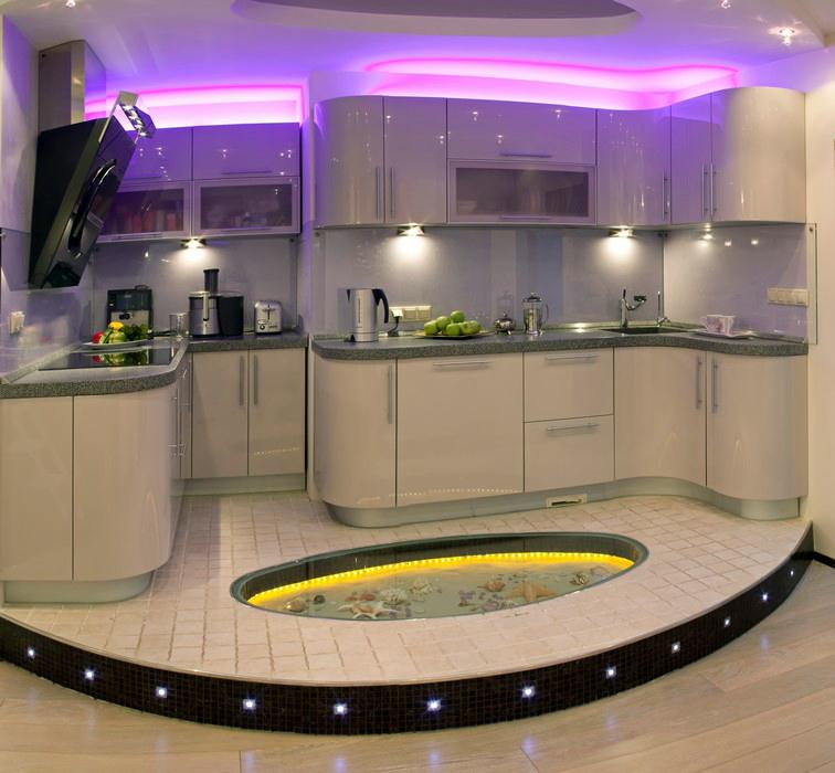 приподнятый пол на кухнеприподнятый пол на кухне