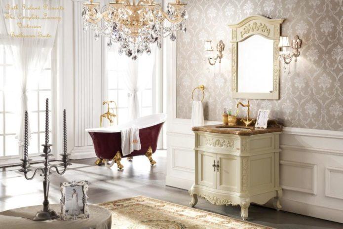 античный стиль ванной